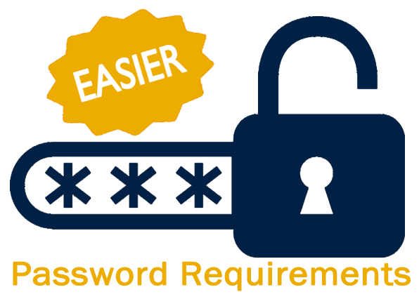 New Easier Password Requirements image