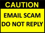 Caution - Email Scam Image