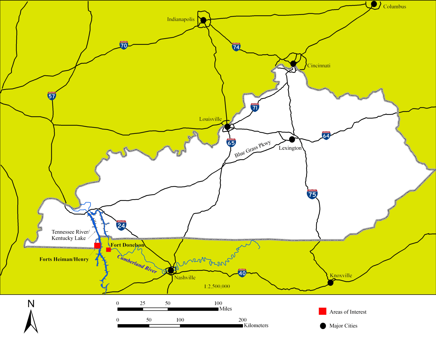 Imagepng - Ft donelson river on us map