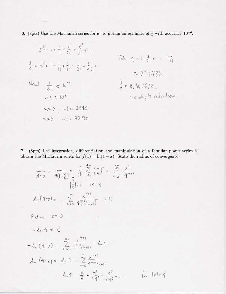 Calculus 2 Scoreboard